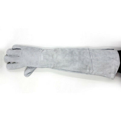 85cm Welding Hand gloves Breathable 1 Pair Long Cuff Leather Protective Welder