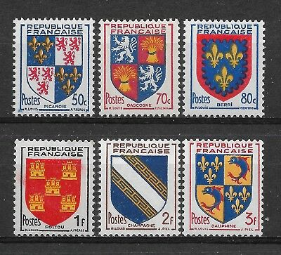 Arms of France 1953. Complete series of 6 new stamps **             (6319)