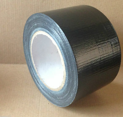 96mm x 50m Black Duck Duct Gaffa Gaffer Waterproof Cloth Tape 12 Rolls