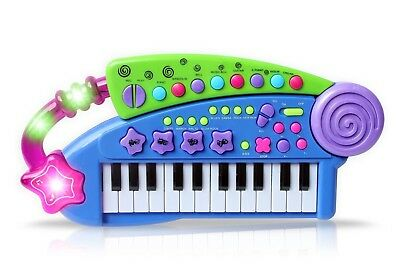(Blue) - Vinsani Carry Along Keyboard Children Kids Musical Instrument Toy
