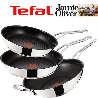 Jamie Oliver by Tefal WOK Bratpfanne °24/26/28/30cm Induction Wave Edelstahl