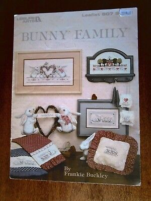 4 Bunny Family Cross Stitch Pattern  In Colour By Frankie Buckley