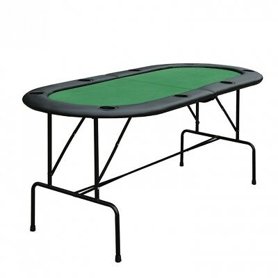 Homcom Poker Table Top 1.85m Folding Top For 8 Players Casino w/ Chip Trays