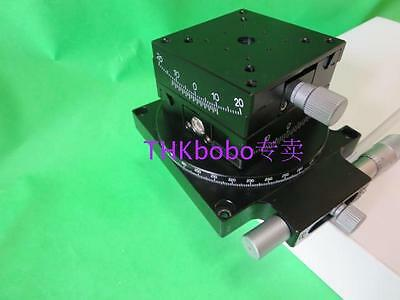 3-AXIS Rotary Angle Stages XYZ Rotation Table ±15° ±10° 360°,70*70mm,MMT #U06ZZ