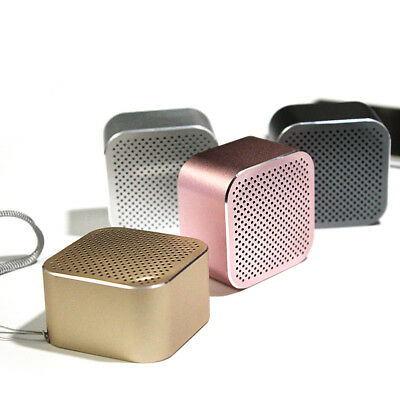 Mini Bluetooth Square Metal Wireless Bluetooth 4.2 Speaker Stereo with mic lot