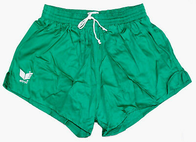 Vintage 1980s Erima Shorts Green Lined German Army NEW running football retro