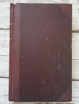 Vintage Ledger Account Book Red Leather Spine & Corners Cornish Blacksmith 49