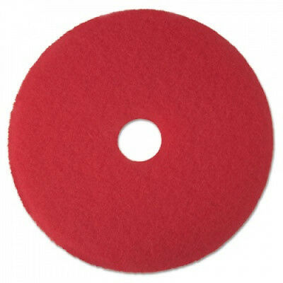 3M 08388 Buffer Floor Pad 5100 13 in. Red 5 Pads-Carton. Delivery is Free