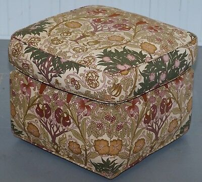 Liberty's London Floral Upholstered Footstool Ottoman Kendrick Part Of A Suite