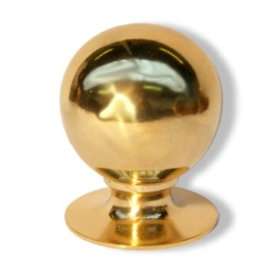 Solid Brass Ball End Finials for Curtain Poles  19mm 25mm 32mm 38mm 50mm