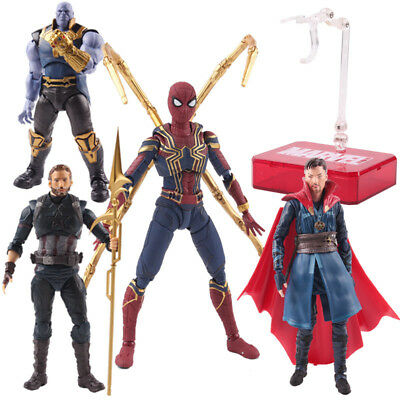 S.H.Figuarts Avengers Infinity War Thanos Spider-Man Captain America Figure Toy