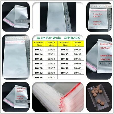 13 kinds of size Clear OPP bags Self Adhesive Peel Seal Cellophane Plastic Bags