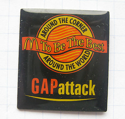 M / TO BE THE BEST / GAP attack  .........Mc DONALD`s-Pin (117f)