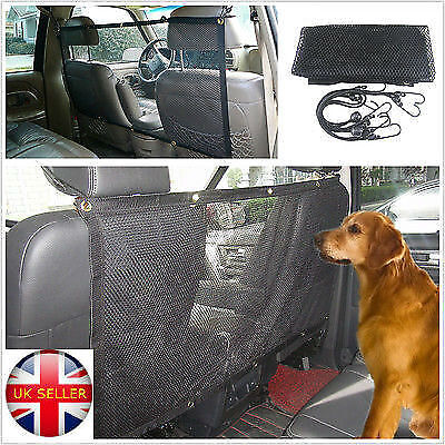 UK,Pet Dog Cat Car Van Safety Isolation Net Guard Front Back Seat Barrier Mesh