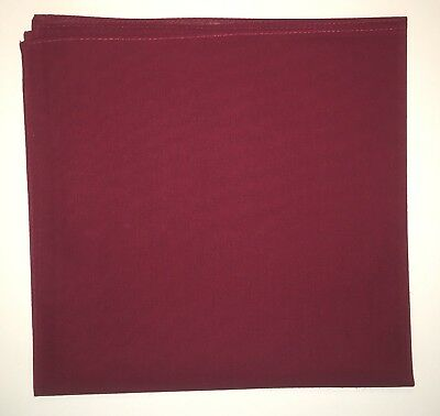 SOLID BURGUNDY/WINE Bandana Bandanna 100% Cotton BIKER DURAG DOORAG HEADWRAP