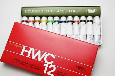 (1, 12 ASSORTED COLORS) - Holbein - Artists' Watercolour 12-Colour 5ml Set