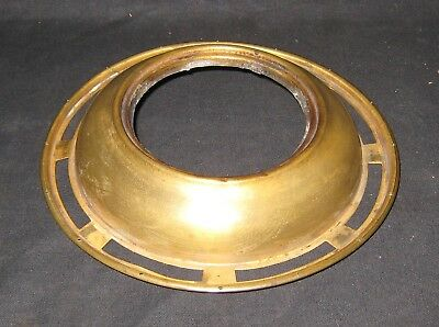 "Kerosene Oil Solar Astral Brass Lamp Font Cap 6 1/8"" Shade Ring 16 Prism Holes"