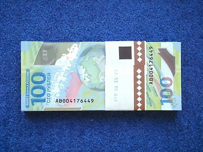 Russia, 100 rubles x 100 pcs, 2018, FIFA World Cup in Russia 2018, polymer, UNC