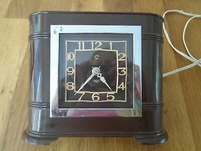 Smiths Art Deco 1930's Bakelite Mantle  Clock