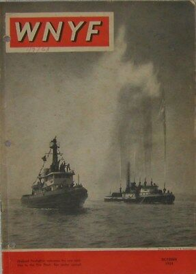 1954 Wnyf New York Firefighters Fdny Magazine October Issue