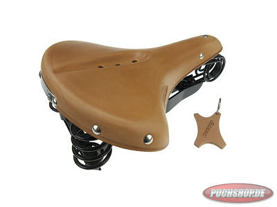Sattel Lepper drei Feder V90 Authentic Naturel Puch Maxi Mofa Moped Saddle