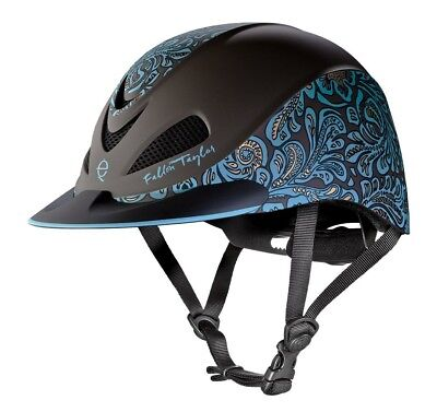 (Small, Turquoise Floral) - Troxel Fallon Taylor Performance Helmet