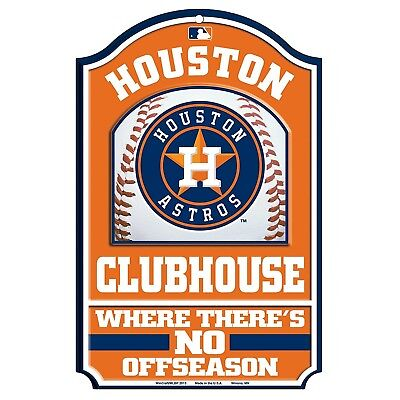 MLB Houston Astros Fan Cave Wood Sign, 28cm x 43cm. WinCraft. Shipping is Free