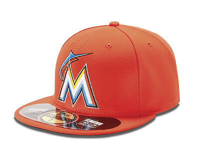 (Miami Marlins, 7 7/8) - New Era MLB Road Authentic Collection On Field