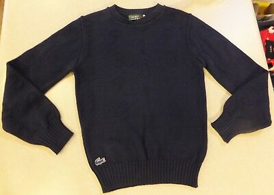 Vtg Izod Lacoste For Her Youth Girls Navy Blue Cotton Sweater W/ Numbers Size S