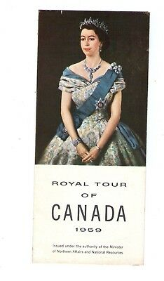 1959 Vg Original Official Royal Tour Of Canada  Queen Elizabeth Brochure