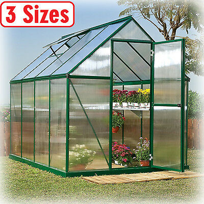 Greenhouse Kit 3 Size Portable Walk In Polycarbonate Panel Plant Outdoor Garden
