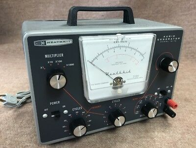 Heathkit Heath vintage tube audio generator IG-72 use to repair amplifier radio