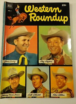 Western Roundup #1 Comic Book Dell 1952