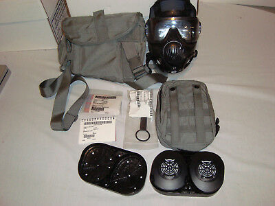 Avon M50 Gas Mask With Cartridges Storage Bag Small