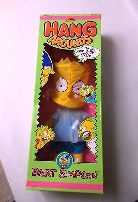 """Hang Arounds Bart Simpson 1990 Nylon Fabric 14"""" Windsock Figure by Spectra Star"""