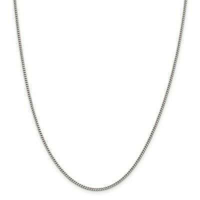 """Sterling Silver 1.8mm CURB Chain Necklace 925 Italy 16"""", 18"""", 20"""", 22"""", 24"""", 30"""""""