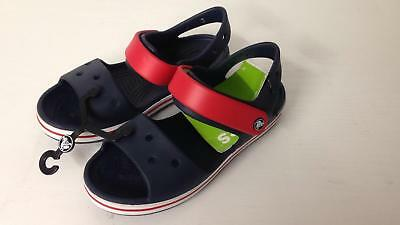 Crocband Sandal Kids navy/red relaxed fit 12856-485 Uk Kids Size j3