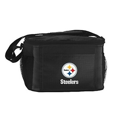 NFL Pittsburgh Steelers Insulated Lunch Cooler Bag with Zipper Closure, Black