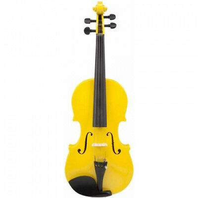 Le'Var 4/4 Student Violin Outfit, Mellow Yellow. Delivery is Free