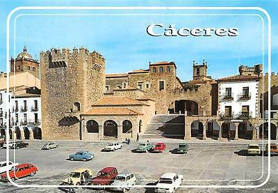 Spain Caceres PLaza del General Moia Square Vintage Cars Voitures