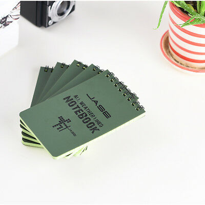 """All-Weather Top-Spiral Notebook 3"""" x 5"""" Green Cover Waterproof 50 Sheets"""