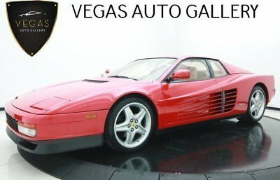 1990 Ferrari Testarossa  Rosso Finish, Beige Leather Seats, ALPINE Stereo