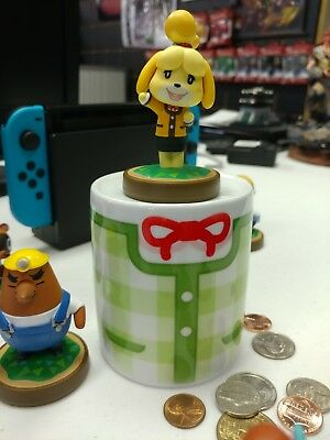 Nintendo videogame Animal Crossing Isabelle summer shirt style ceramic Coin Bank