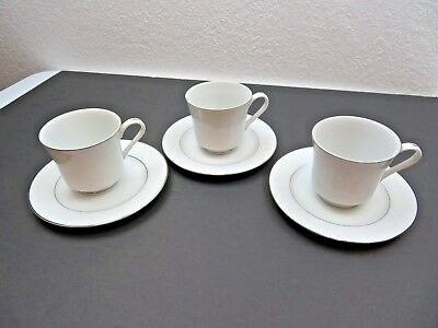Crown Victoria Fine China Japan Lovelace porcelain cups and saucers