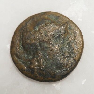 Ancient Greek bronze coin for identification, great details! Horse on obverse