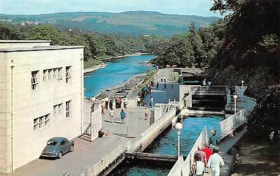 Pitlochry Dam and Power Station with The Salmon Ladder in The Foreground Car