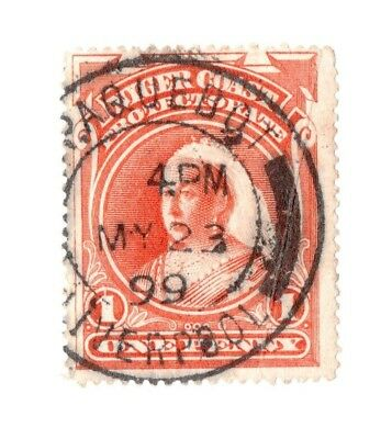 Niger coast 1d with postmark Paquebot Liverpool