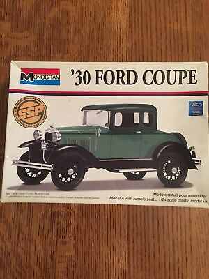 1930 Ford Coupe 1/24 Scale Plastic Model Kit By Monogram.
