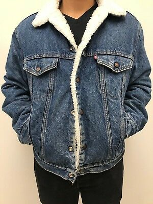 Men's Levi's San Fransisco Vintage Denim Jacket - Size 40R - M - Made in USA