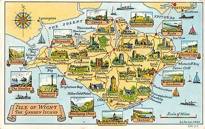 Isle of Wight, Garden Island, Lymington, Portsmouth, Map Indicators Multiviews